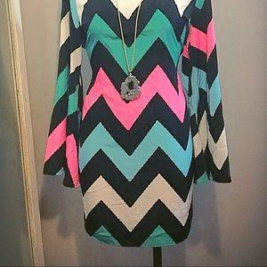 Yetts Chiffon Dress Bell sleeves